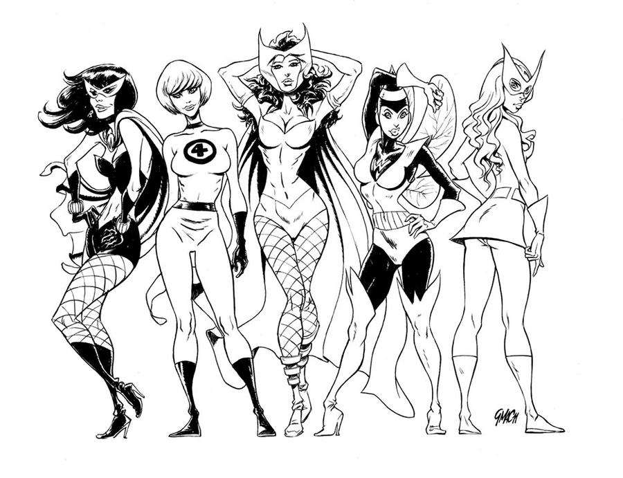 Think, that Girls of marvel nude can