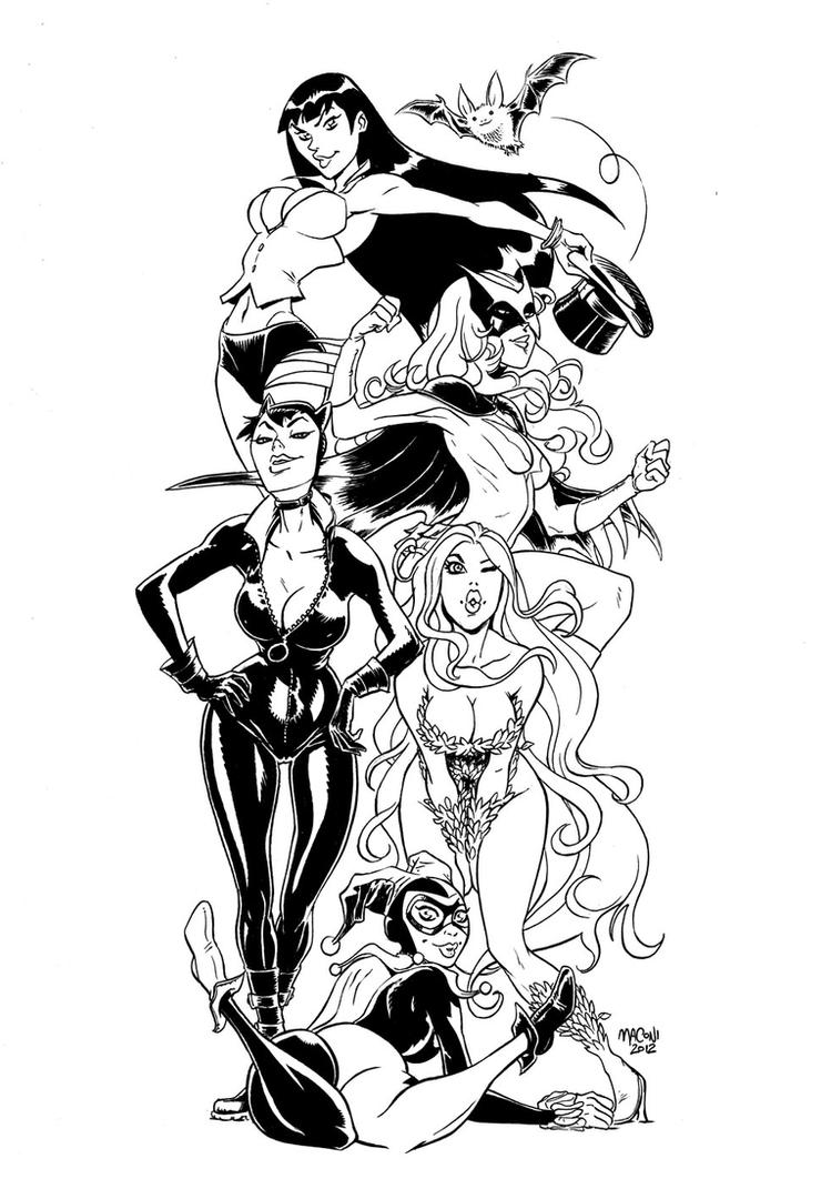 Gotham Sirens by gianmac
