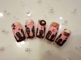 Sweet yummy nail art by Jutamart