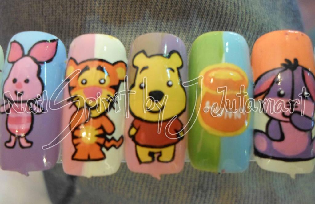 Pooh n the gang nails art by Jutamart