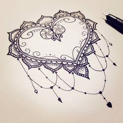 Mandala Style Valentinesday Heart