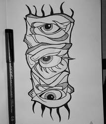 Abstract Eye-Totem
