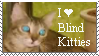I Love Blind Kitties Stamp by SerenaAndMina