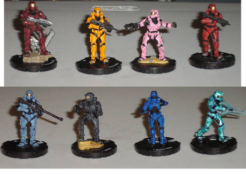Red Vs Blue haloclix repaints
