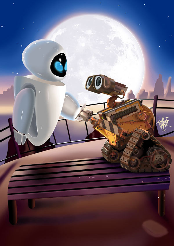 EVA and WALL.E by manukongolo