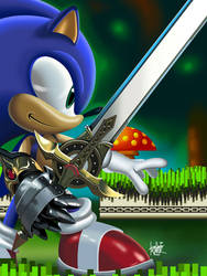 Sonic the Knight by manukongolo
