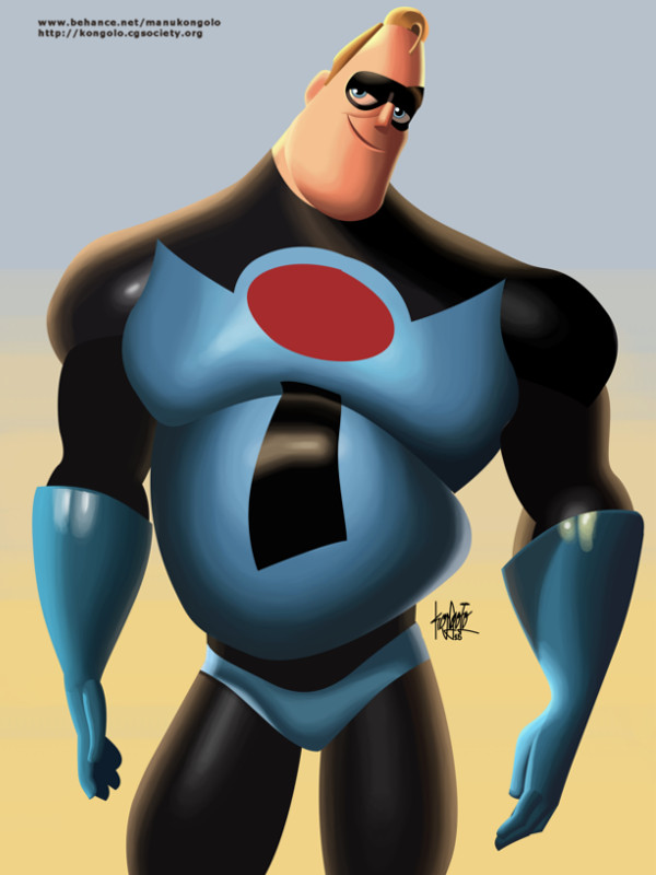 M is for Mister Incredible by manukongolo