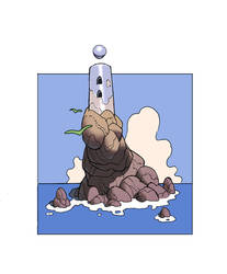 Sea Stack Tower by FoxyTomcat