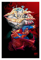 THE DEATH OF SUPERMAN color by ALEROGER