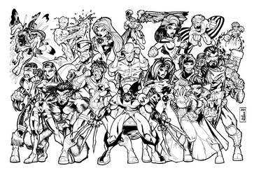 X-MEN by ALEROGER