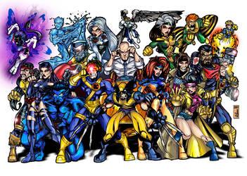 X-MEN, color by ALEROGER