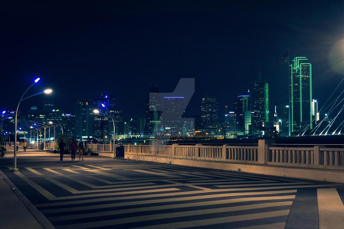 Dallas Skyline from the Bridge by stickybean