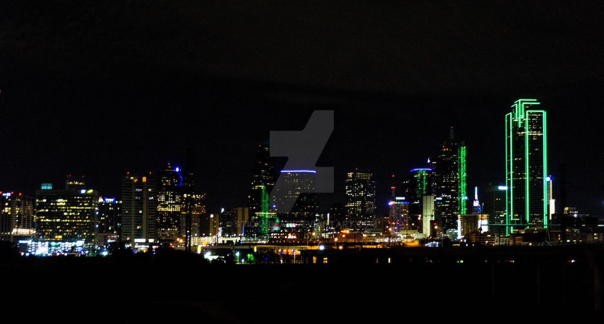 Dallas Skyline by stickybean