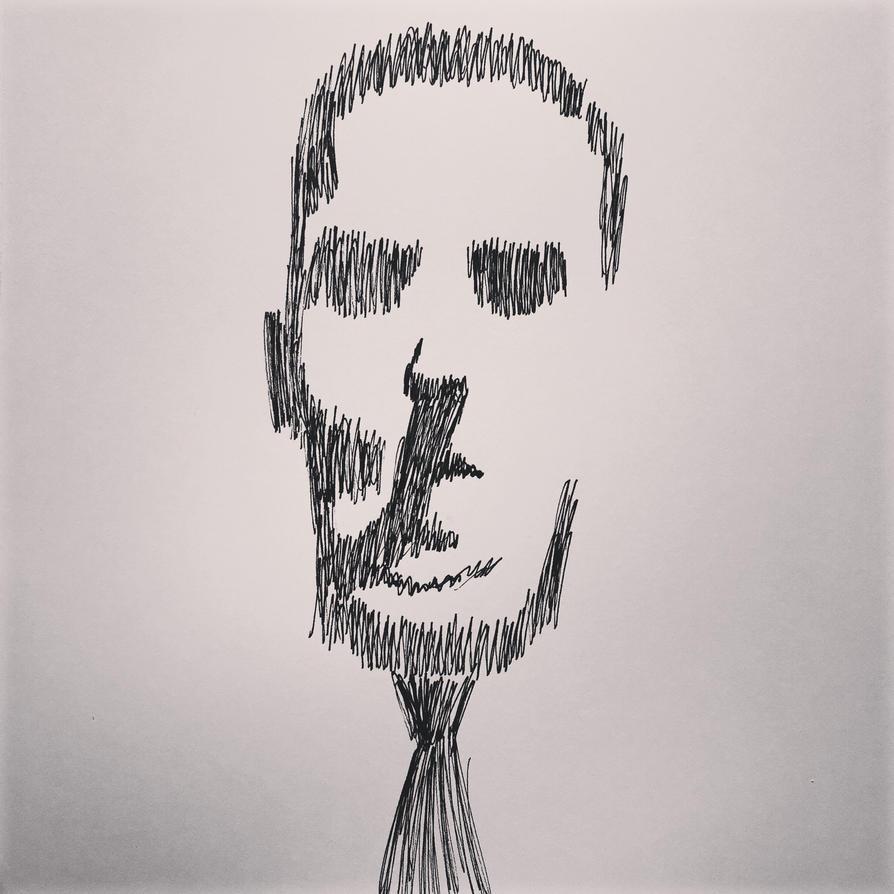 Lovecraft Portrait by TheForbiddenTenet