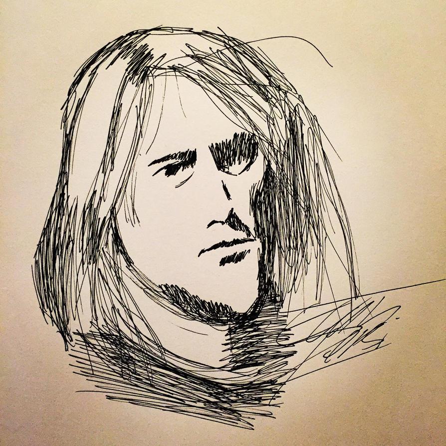 Cobain Portrait by TheForbiddenTenet