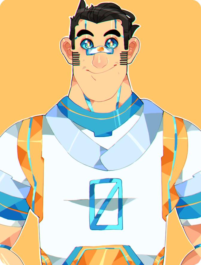 - Zero the futuristic robot - by astr0art