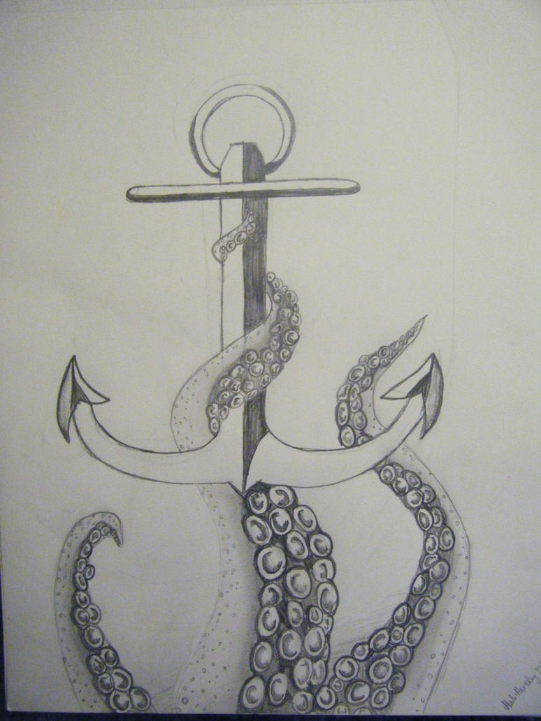 Anchor drawings with quotes quotesgram for Easy drawings that look hard