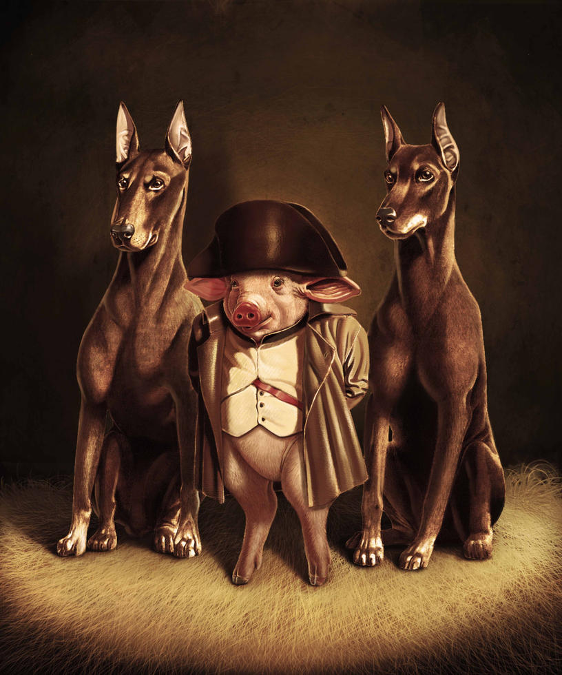 Napoleon Animal Farm Propaganda Animal farm by gabrielwyseNapoleons Dogs Animal Farm