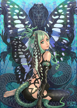 Snake and butterfly