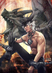 Burning dragon by eat01234