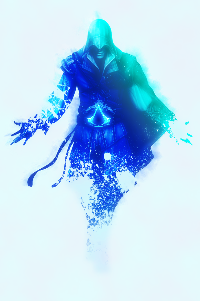 Iphone 4 Wallpaper Blue Ezio Auditore By Iarcadia On Deviantart