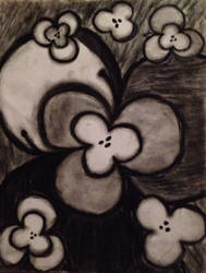 Charcoal Flowers by AnnaRoseRavenwood