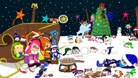 2018 - Squidmas at Poro Park by MikeBaut27