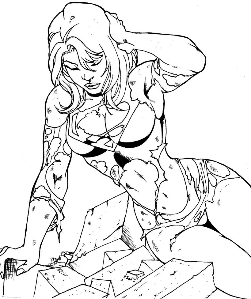Supergirl by sotometicos on deviantart for Supergirl coloring page