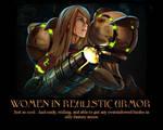 Women in Realistic Armor
