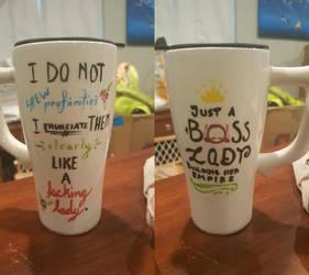 Painted Mugs: Profanities and a Boss
