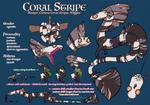 Coral Stripe by AmaranthineRain