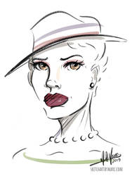 The Hat 3 by sketchartbymarc