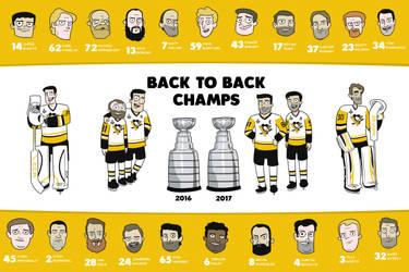 Back to Back Champs Poster by cityfolkwebcomic