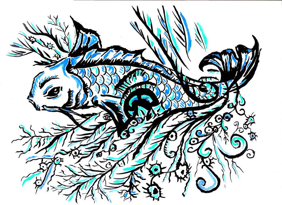 koi fish by zenshinibuu