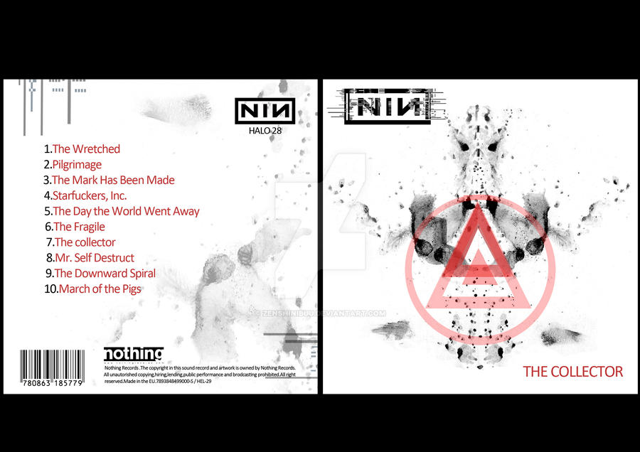 nine inch nails cd cover full by zenshinibuu on DeviantArt