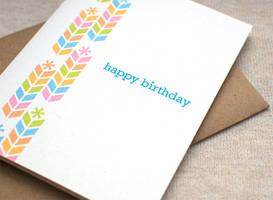 Birthday Card - Chevron Stacks by happydappybits