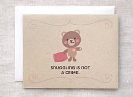 Teddy Bear Card by happydappybits