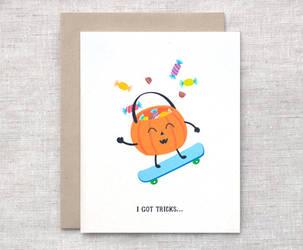 Halloween Card - I Got Tricks by happydappybits