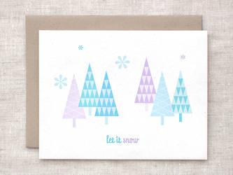 Let it Snow Card by happydappybits