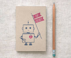 Robot Journal Sketchbook by happydappybits