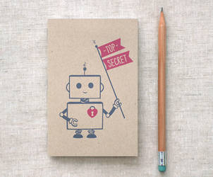 Robot Journal Sketchbook by happydappybits