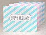 Striped Holiday Cards