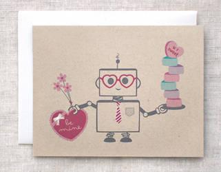 Valentine Robot Card