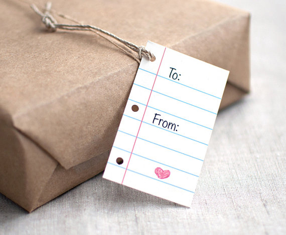 Notepaper Gift Tags by happydappybits