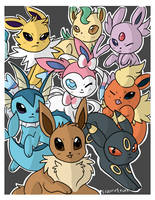 Eeveelutions Binder Cover by TropicalFlygon