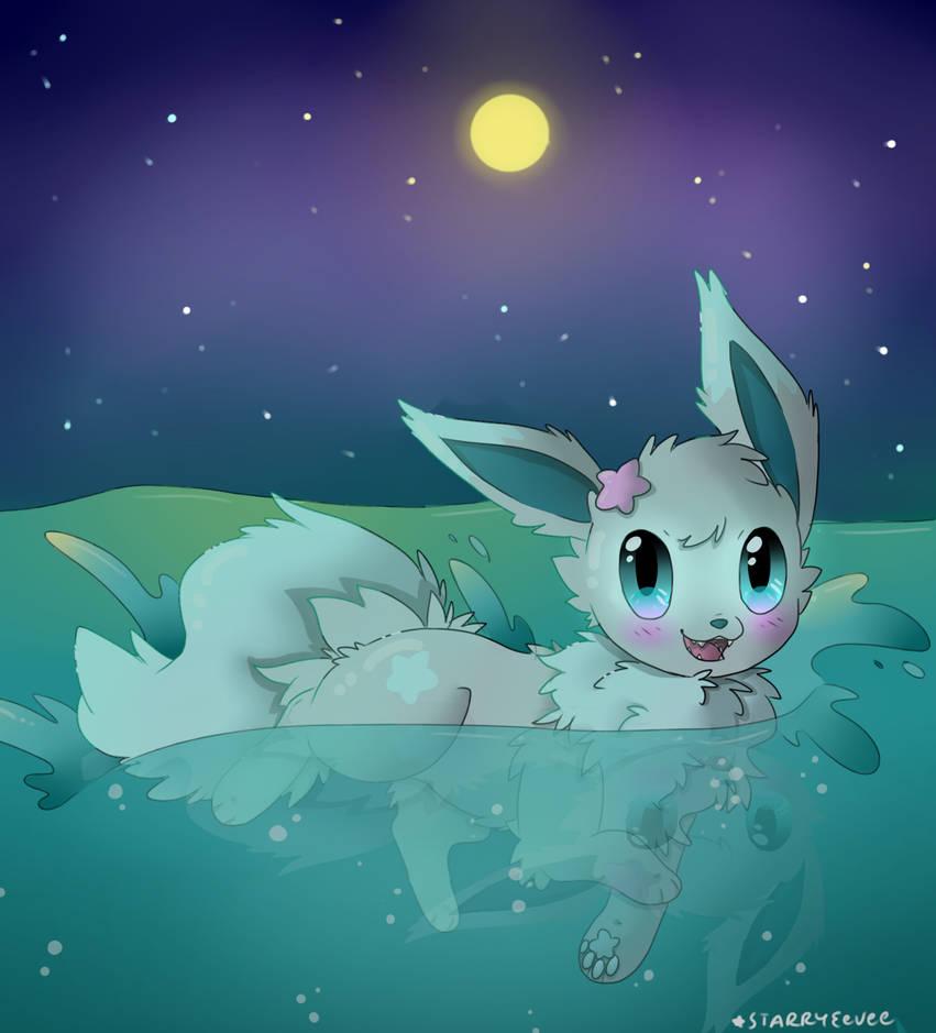 Swim at night by TropicalFlygon