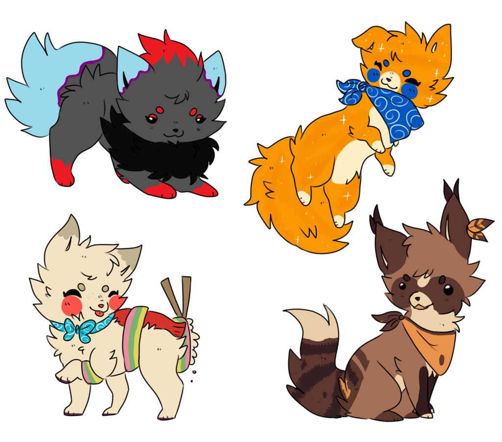 Chibi Commissions Batch 7 by TropicalFlygon