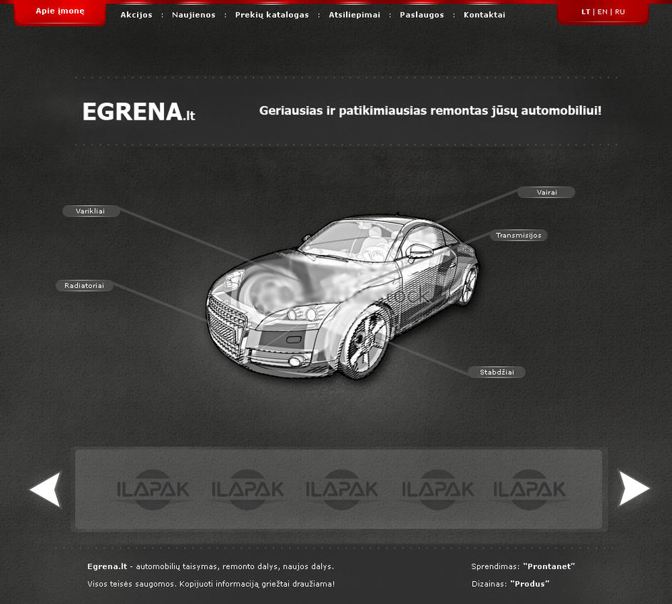 Auto web design by PauliusC