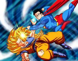 Super Saiyajin 3 Songoku vs Superman