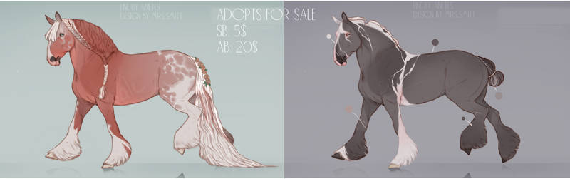 HORSE ADOPTS FPR SALE [OPEN]